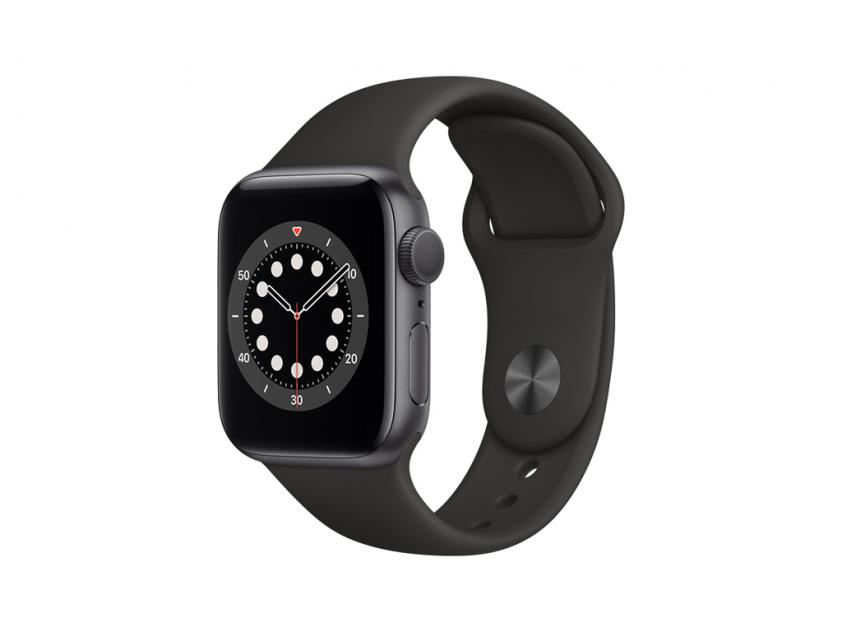 Apple Watch Series 6 Aluminium with Black Sport Band 40mm Space Gray (MG133GK/A)