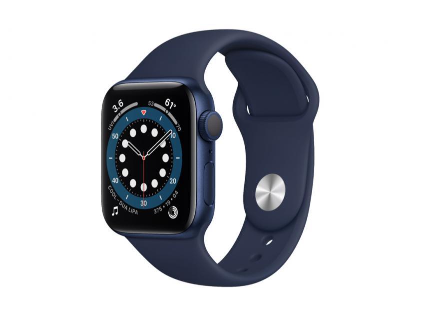 Apple Watch Series 6 Aluminium with Deep Navy Sport Band 40mm Blue (MG143GK/A)