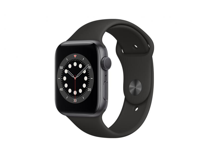 Apple Watch Series 6 Aluminium with Black Sport Band 44mm Space Gray (M00H3GK/A)