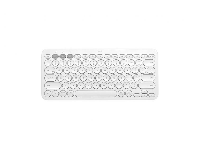Πληκτρολόγιο Logitech K380 Wireless White ENG Layout (920-009591)