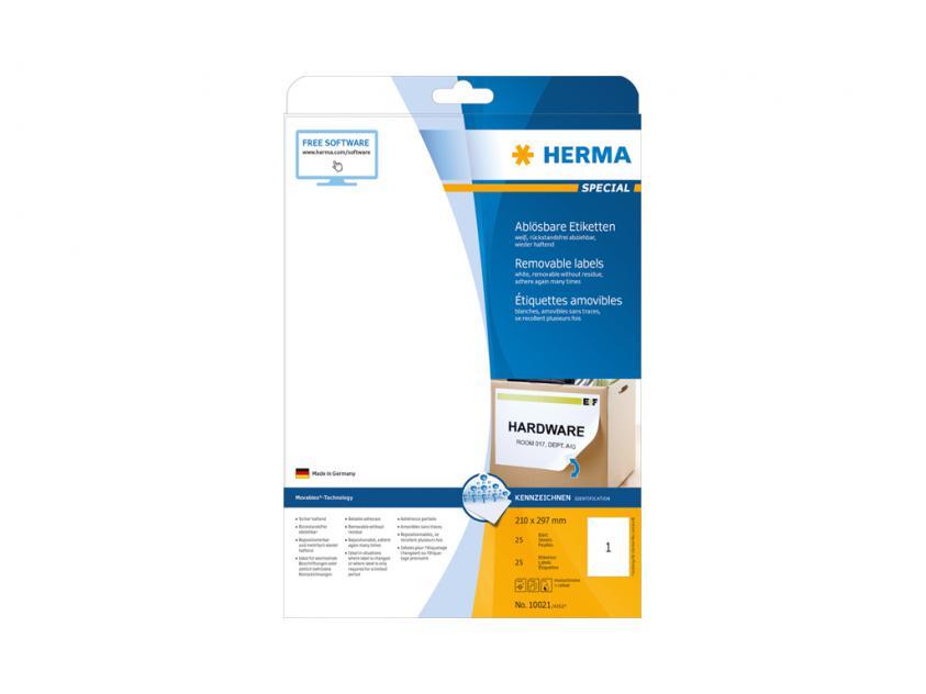 Αυτοκόλλητες Ετικέτες Herma A4 210 x 297 25 sheets (10021)