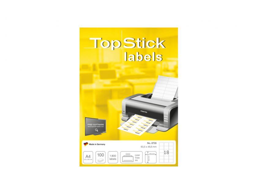 Αυτοκόλλητες Ετικέτες TopStick 63.5x46.6mm 100-Sheets (8735)