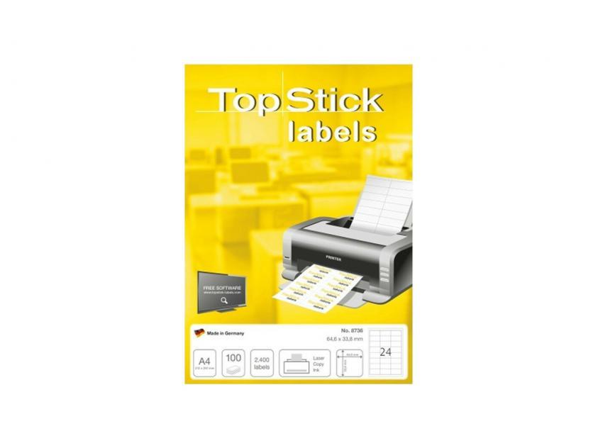 Αυτοκόλλητες Ετικέτες TopStick 64.6x33.8mm 100-Sheets (8736)