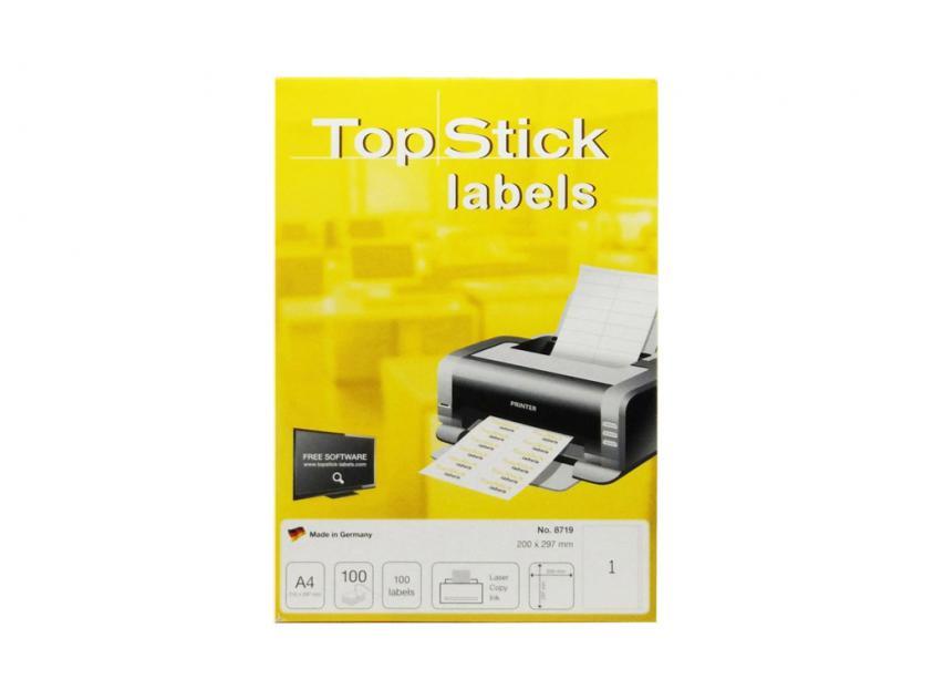 Αυτοκόλλητες Ετικέτες TopStick 200x297mm 100-Sheets (8719)