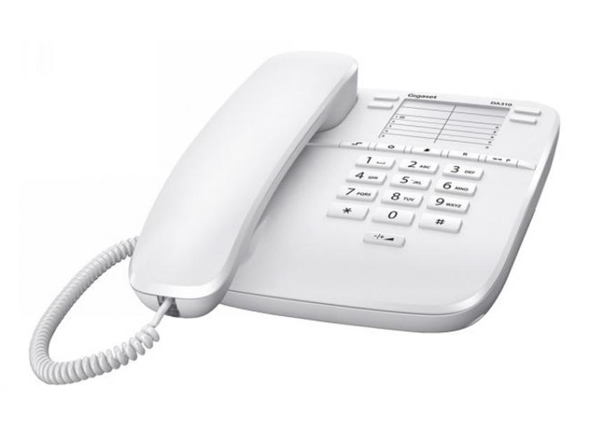 Τηλεφωνική Συσκευή Gigaset  DA310 White (S30054-S6528-R102)