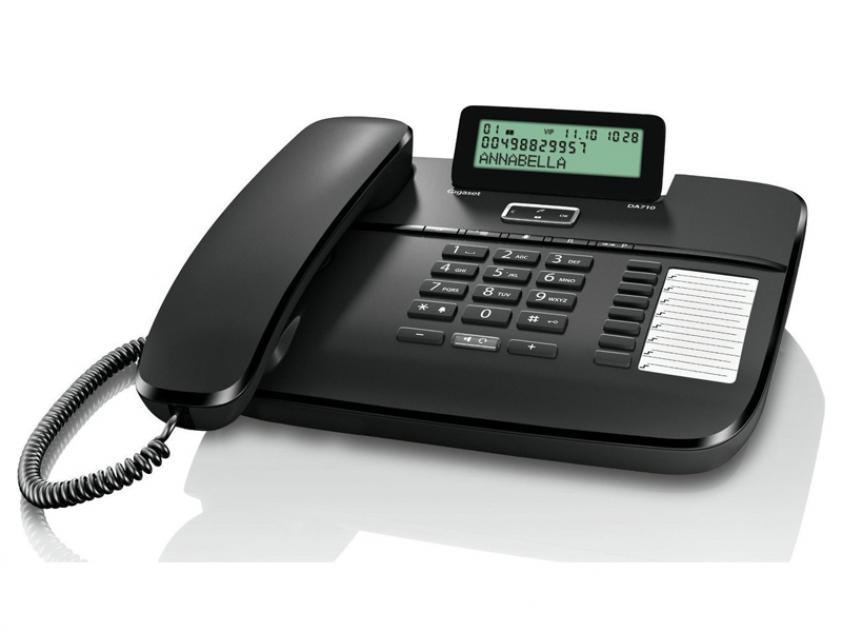 Τηλεφωνική Συσκευή Gigaset DA710 Black (S30350-S213-R101)