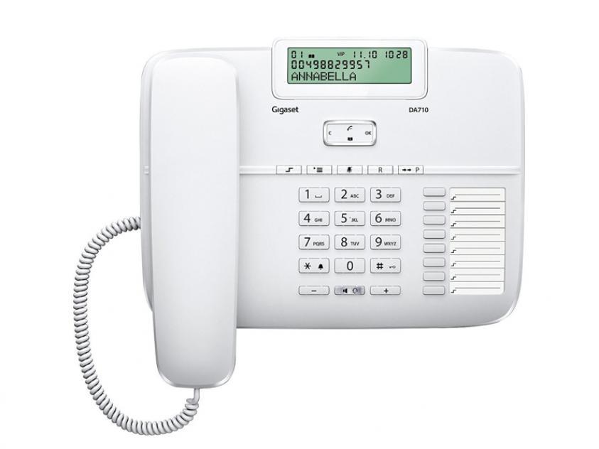 Τηλεφωνική Συσκευή Gigaset DA710 White (S30350-S213-R102)
