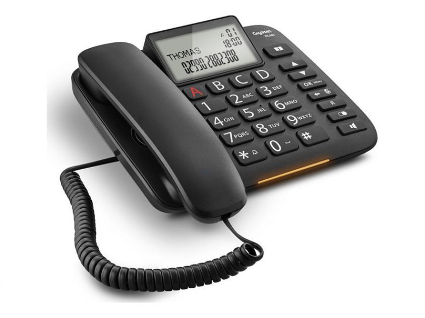 Τηλεφωνική Συσκευή Gigaset DL380 Black (S30850-S217-R601)