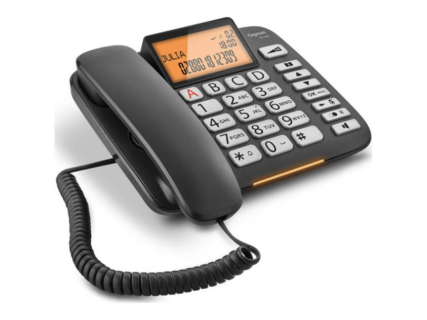 Τηλεφωνική Συσκευή Gigaset DL580 Black (S30350-S216-R601)