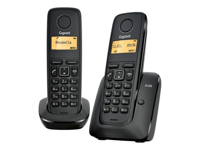 Ασύρματη Τηλεφωνική Συσκευή Gigaset A120 Duo Black (L36852-H2401-T101)