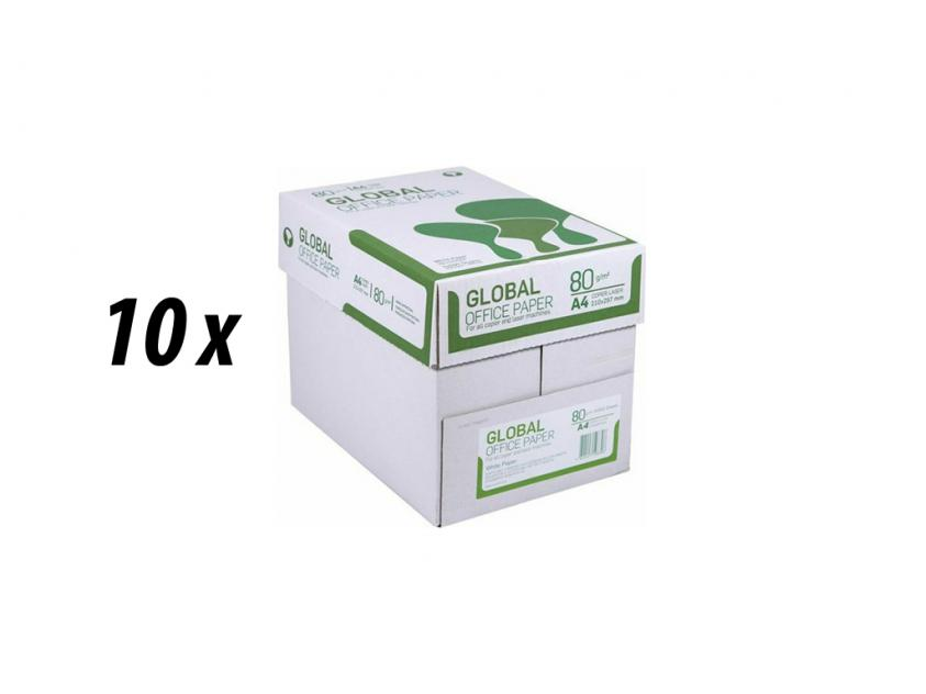 Χαρτί Global A4 80g 10 Boxes (GLOBAL10BOXA4)