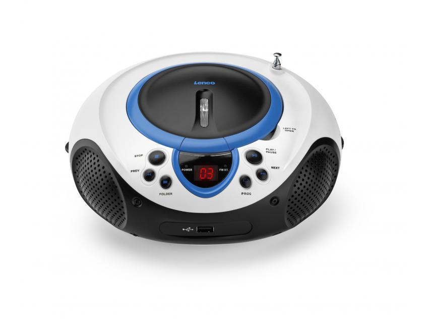 Φορητό Ραδιόφωνο Lenco SCD 38 USB Blue (LEN-SCD-38B)