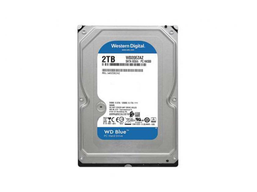 Εσωτερικός Σκληρός Δίσκος HDD Western Digital Blue 2TB SATA III 3.5-inch (WD20EZAZ)