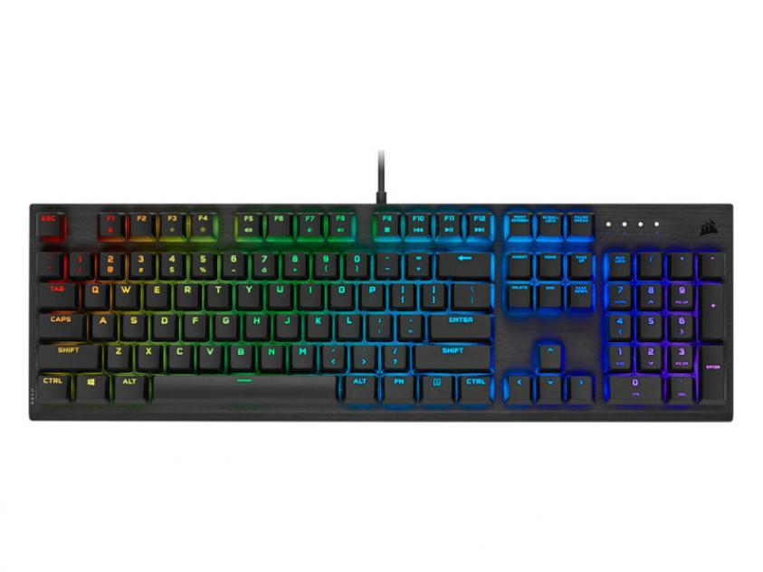 Μηχανικό πληκτρολόγιο gaming Corsair PRO RGB Cherry Viola